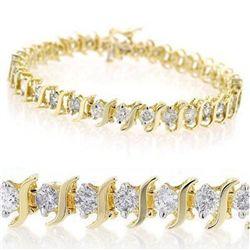 Natural 5.0 ctw Diamond Bracelet 10K Yellow Gold