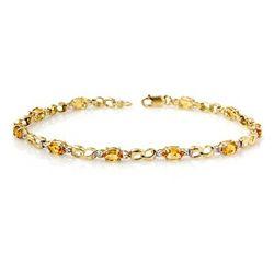 Genuine 2.26 ctw Citrine & Diamond Bracelet Yellow Gold