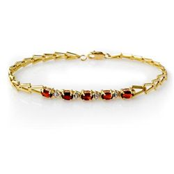 Genuine 1.50 ctw Garnet Bracelet 10K Yellow Gold