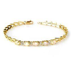 Genuine 0.75 ctw Opal Bracelet 10K Yellow Gold