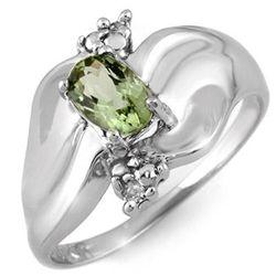 Genuine 0.54 ctw Green Tourmaline & Diamond Ring Gold