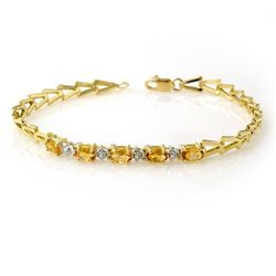 Genuine 1.0 ctw Citrine Bracelet 10K Yellow Gold