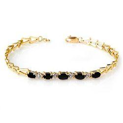 Genuine 1.75 ctw Sapphire Bracelet 10K Yellow Gold