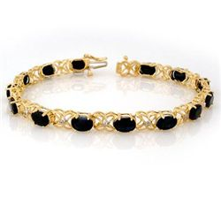Genuine 16.05 ctw Blue Sapphire & Diamond Bracelet Gold