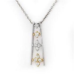 Natural 0.25 ctw Diamond Necklace 10K Multi tone Gold