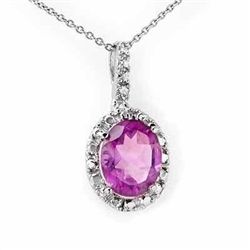 Genuine 2.05 ctw Amethyst & Diamond Pendant 10K Gold
