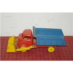 TOY DUMP TRUCK W/ FRONT LOADER