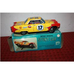 BATTERY OPERATED STUNT CAR IN ORIG. BOX - 11""