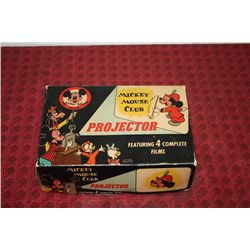 MICKEY MOUSE PROJECTOR - MINT COND. - ORIG BOX. - ONLY 3 FILM STRIPS