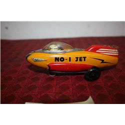 NO. 1 JET - KEY WINDUP TOY - WORKS