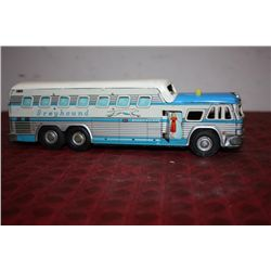 "GREYHOUND BUS - 10"" W/ MOVABLE PARTS - PRESSED TIN - JAPAN"