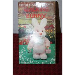 BATTERY OPERATED WALKING BUNNY - 10""