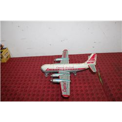 "TIN MARX CAPITAL AIRLINES PLANE - 11"" LONG - WINGSPAN 14"""