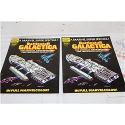 1978 - 2 MARVEL BATTLESTAR GALACTICA -ONE MONEY - MINT