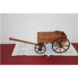 "WOODEN WAGON - MADE BY PARIS MFG. CO. - 35"" X 12"""