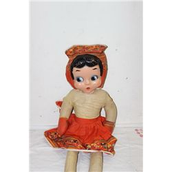 "BETTY BOOP DANCE W/ ME DOLL - 38"" - ONE LEG WITH DAMAGE"