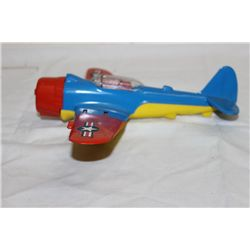 "HUBLEY DIE CAST AIRPLANE W/ FOLD OUT LANDING GEAR & WINGS - 9"" - WING SPAN 11"""