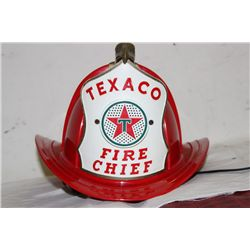 TEXACO FIRE CHIEF HAT - PARKS PLASTIC N.J.