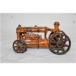 EARLY CAST IRON FARM TRACTOR - ORIG PAINT - NO NAME 5
