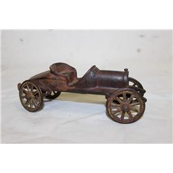 CAST IRON CAR - NO DRIVER - UNSIGNED - 6.5""