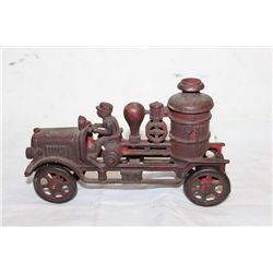 EARLY CAST IRON FIRE PUMPER - COMPLETE 8""