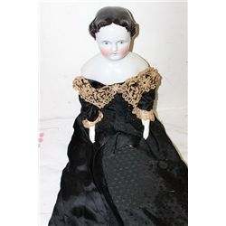 VICTORIAN CHINA HEAD DOLL 32""