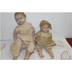 2 COMPOSITION DOLLS