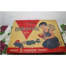 "MAK-A-TRUK KIT - COMPLETE ORIG. BOX - 19""X13"""