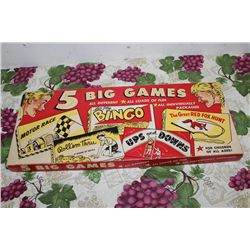 5 BIG GAMES - MINT & COMPLETE - ORIG. BOX