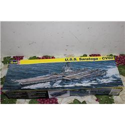 U.S.S. SARATOGA - COMPLETE W/ ORIG. BOX