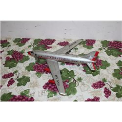 "TIN PLANE - 16"" X 18"" - MADE IN JAPAN"