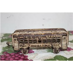 1880'S CAST IRON TRAIN CAR - 8.5""