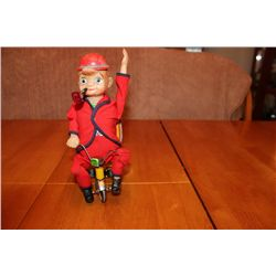 "BATTERY OPERATED CYCLING DADDY - MADE IN JAPAN - ORIG. BOX - 10"" TALL"