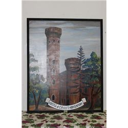 "CASTLE OF ORANTE OIL ON CARDBOARD - MINT - 51"" x 41"" by MATTHEW ORANTE"