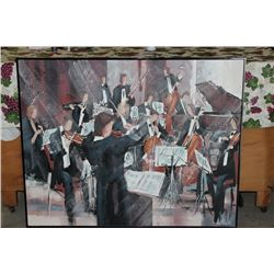 "OIL ON CANVAS BY MATTHEW ORANTE - 50"" X 40"" - CONDUCTOR - MINT"