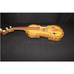 "LITHUANIA VIOLIN MADE BY MATTHEW ORANTE ARTIST  - SCULPTOR INSTRUMENT MAKER 25"" LONG"