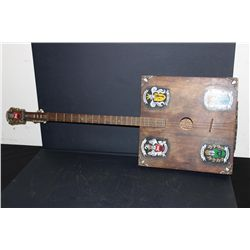 3 STRING LITHUANIA FOLK ART INSTRUMENT HAND MADE & DECORATED BY ARTIST MATTHEW ORANTE