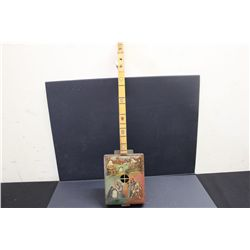 LITHUANIA UNFINISHED 2 STRING INSTRUMENT - MISSING 1 STRING MADE BY ARTIST MATTHEW ORANTE