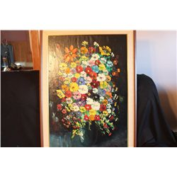 """36"""" X 24"""" PAINTING ON CANVAS BY MATTHEW ORANTE - 1982 - INSURED DISPLAY"""