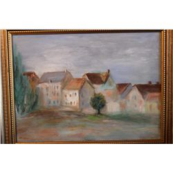 "12"" X 16"" OIL ON CANVAS 1992 BY ARTIST MATTHEW ORANTE - TITLE LITHUANIA"