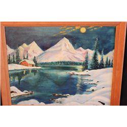 "26"" X 22"" OIL ON CANVAS - NO TITLE - BY ARTIST MATTHEW ORANTE 1986 - MINOR DAMAGE"