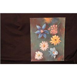 """FLOWERS OIL ON BOARD BY MATTHEW ORANTE 1993 - 14"""" X 18"""""""