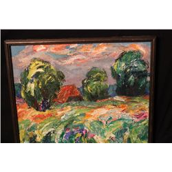 UNSIGNED OIL ON CANVAS FROM ORANTE ESTATE
