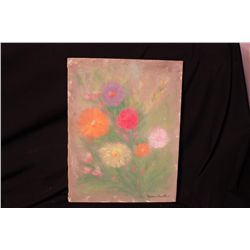 FLORAL OIL ON CANVAS BY MATTHEW ORANTE 1993
