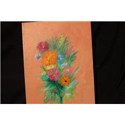 """FLORAL BY MATTHEW ORANTE OIL ON CANVAS - 1993 - 12"""" X 16.5"""""""