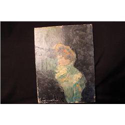 "OIL ON BOARD BY MATTHEW ORANTE - COUNTESSA RAJKOWSKA - 1964 - 9"" X 12"""