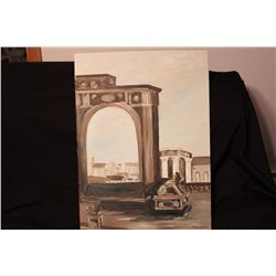 """OIL ON BOARD BY MATTHEW ORANTE - 1962 - 30"""" X 22"""""""