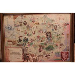 """HISTORY OF LITHUANIA FROM THE ESTATE OF MATTHEW ORANTE 26"""" X 20"""""""