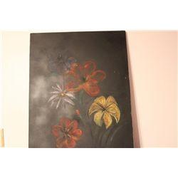 "FLOWERS OIL ON CANVAS BY MATTHEW ORANTE - 1992 - 36"" X 27.5"""
