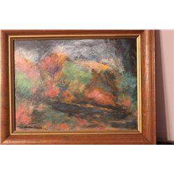 "OIL ON CANVAS BY MATTHEW ORANTE - 1992 - 16"" X 12"""